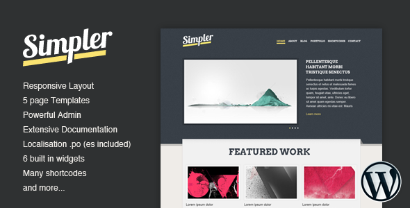1. Simpler HTML5 and CSS3 Templates