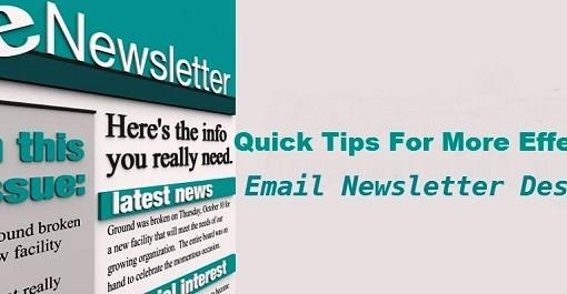 1. email newsletter design