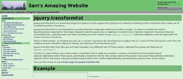 jQuery Transformlist