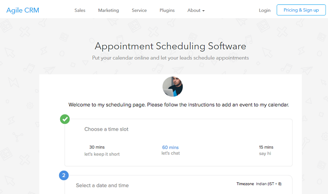 Agile CRM-Appointment-Scheduler