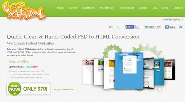 CrazyXHTML-PSD To HTML Service Provider - Designdrizzle