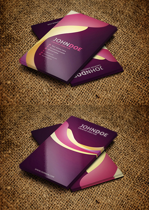 11. Colorful Business Card