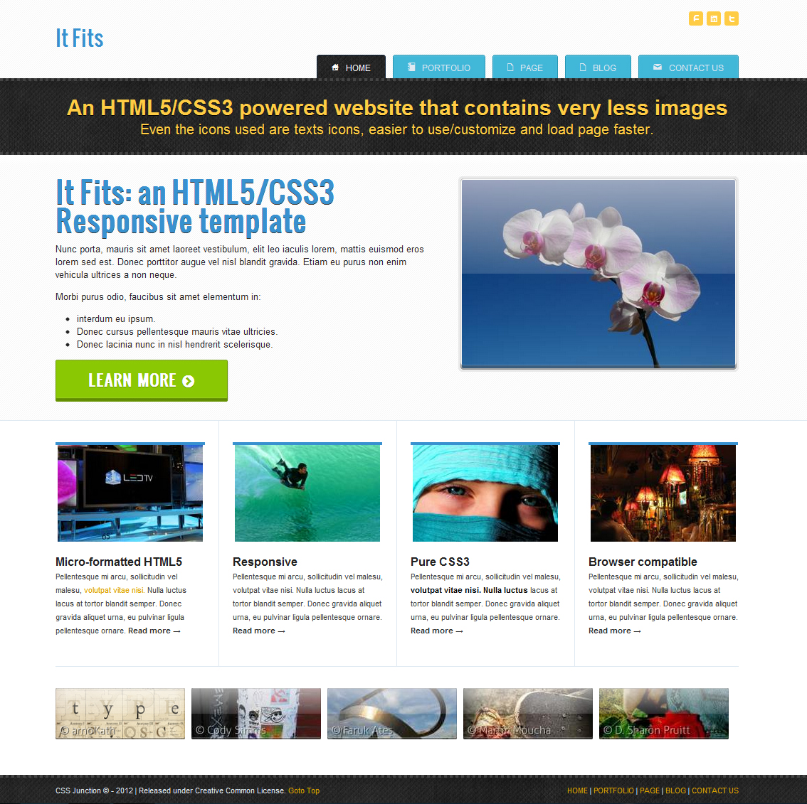 11. It Fits  HTML5 CSS3 Template