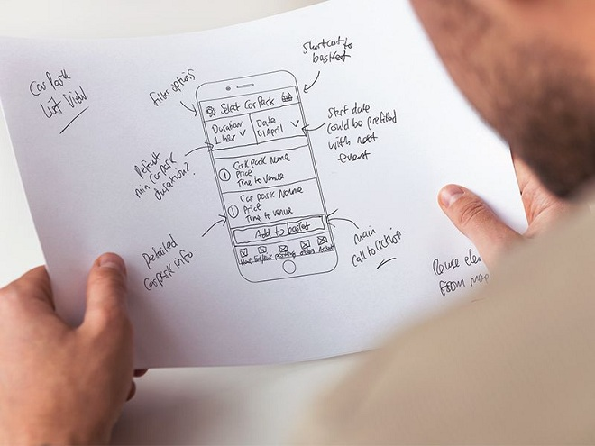 Preoday Mobile App Wireframes