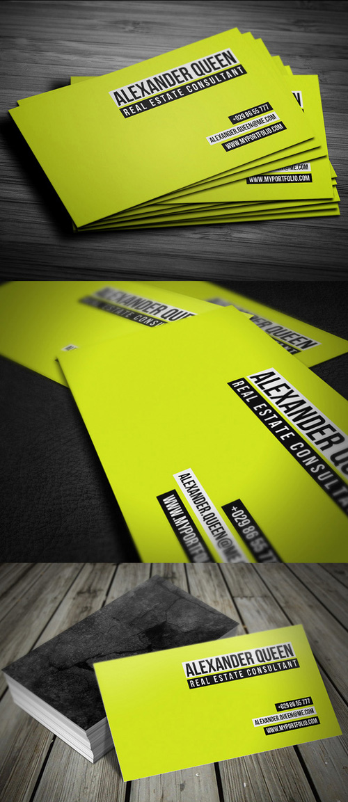 13. Neon Concrete Business Card