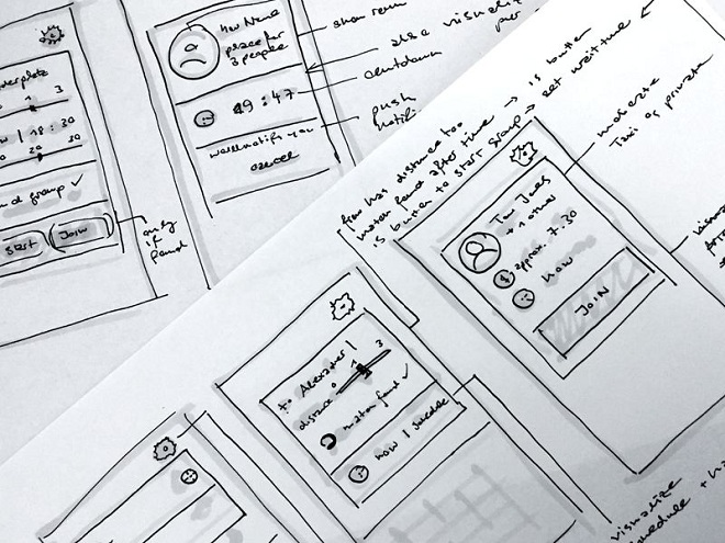 Wireframes for App Concept