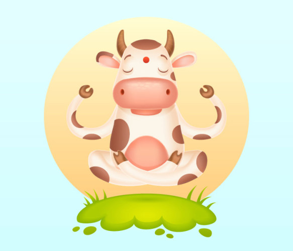 17-meditating-cartoon-cow
