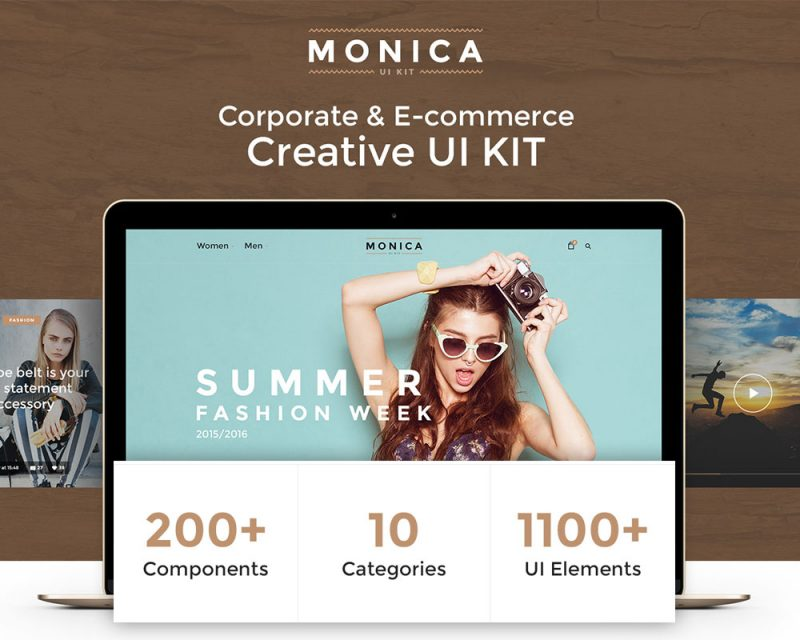Monica Eccommerce UI Kit