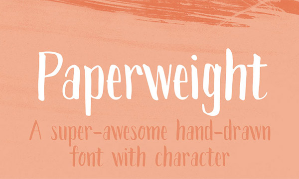 19. Paperweight Font