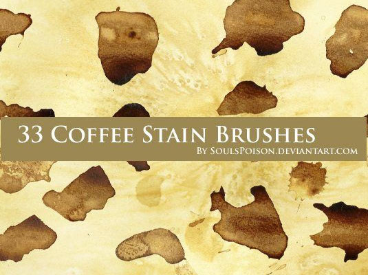 19Coffee stain brushes