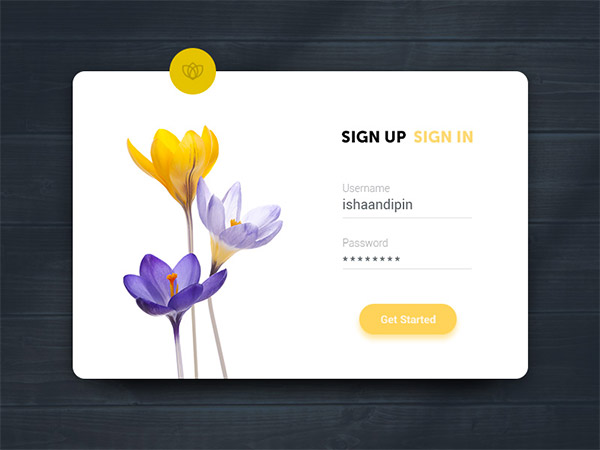 Sign Up UI- sign up form