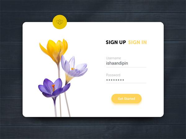 Sign Up UI- sign up form