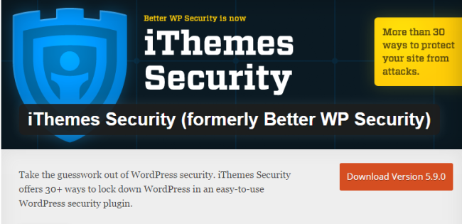 iThemes Security- WordPress Security Plugin