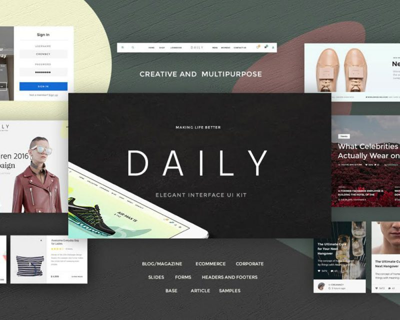 Daily Web UI Kit