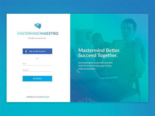 Mastermind Maestro- sign up form