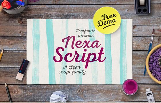 24. Nexa Script (Regular weight without Capitals)