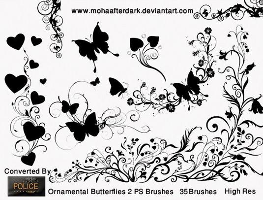 24Ornamental butterflies 2