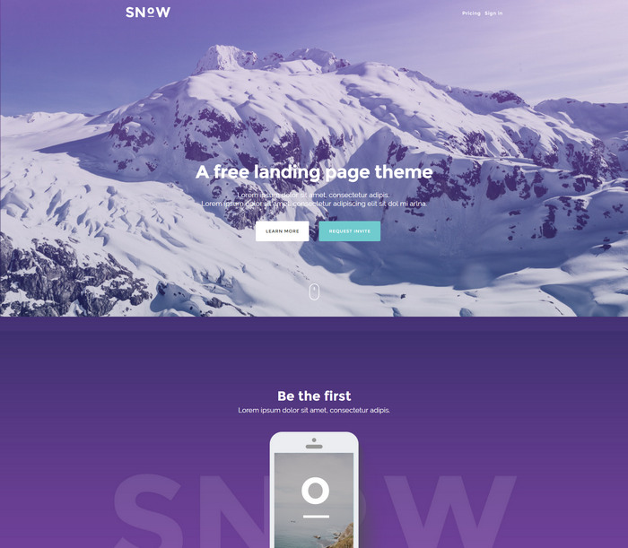 Free Responsive HTML CSS Templates - Free landing page templates html5