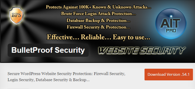 BulletProof Security - WordPress Security Plugin