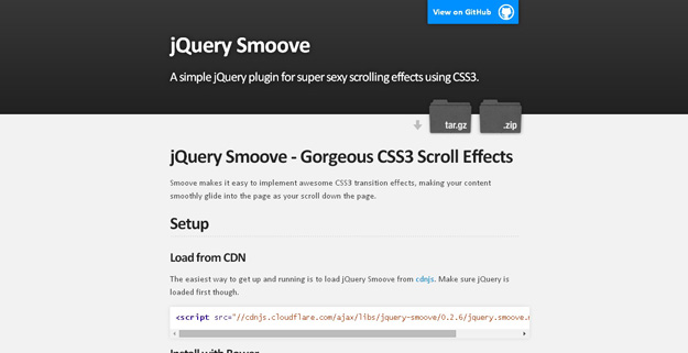 jQuery Smoove-jQuery Plugin