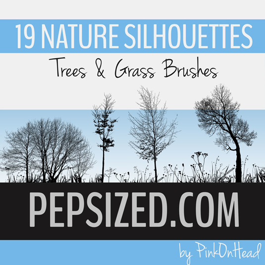 30Nature silhouettes