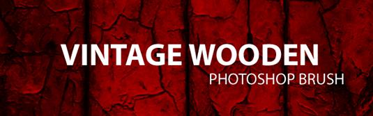 32Vintage wooden brush