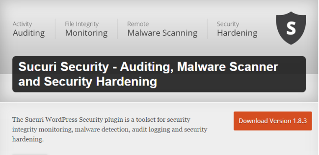 Sucuri Security- WordPress Security Plugin