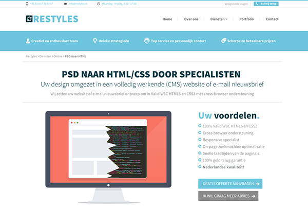 Restyles PSD-To-HTML-Service-Provider
