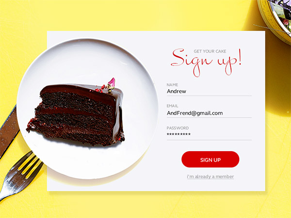 TITLE- sign up form