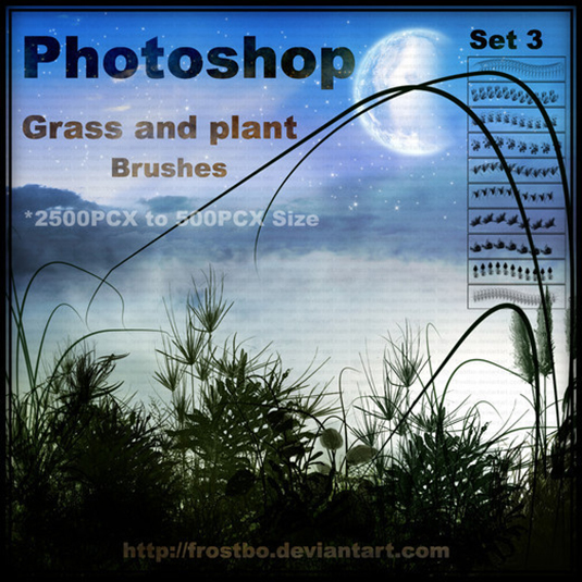 4Grass and plant brushes