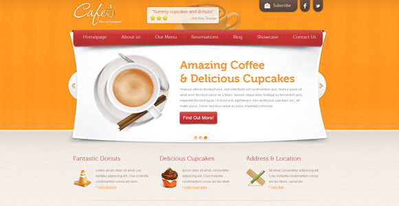 5. Cafe – Free Template