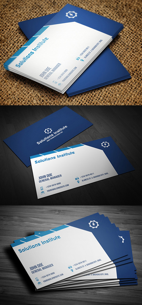 20 best corporate business cards designs for your inspiration corporate blue business card reheart Image collections