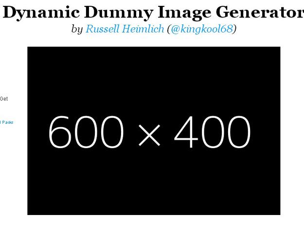 5. Dynamic Dummy Image Generator