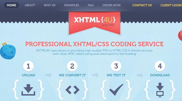 XHTML4U-PSD To HTML Service Provider - DesignDrizzle