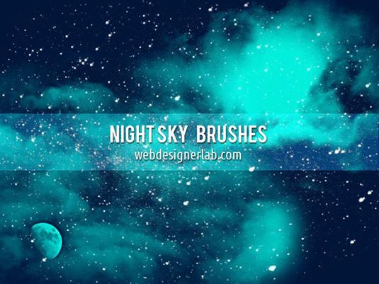 5Night sky brushes