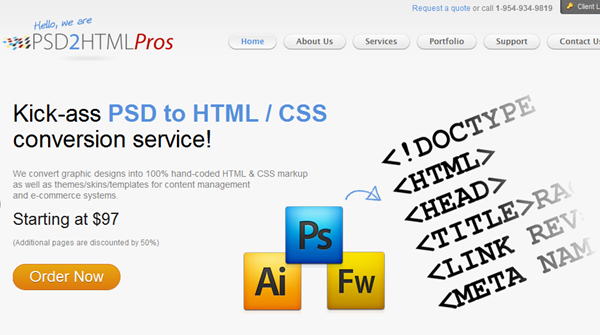 PSD2HTMLPros-PSD To HTML Service Provider - Designdrizzle