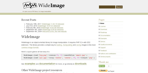 6. WideImage