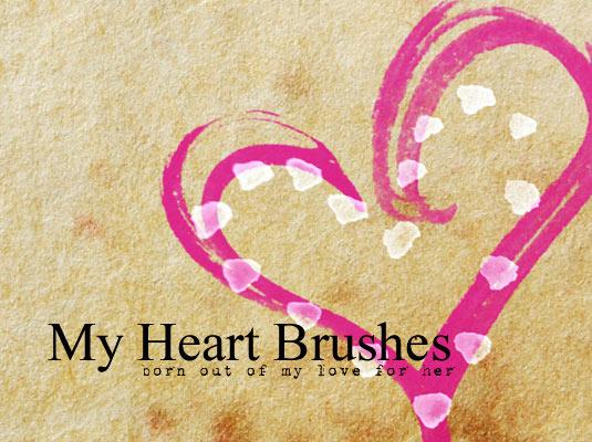 6My heart brushes