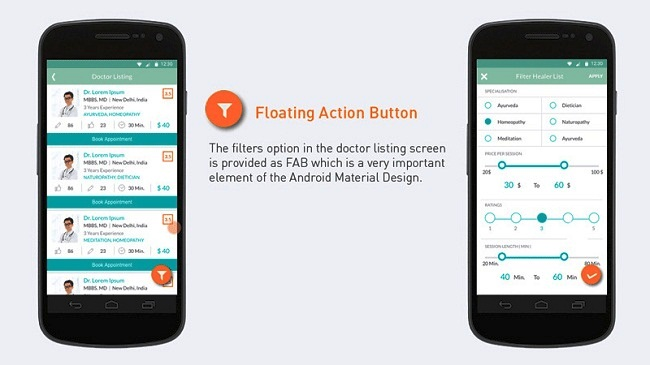 7. Floating Action Button For UX