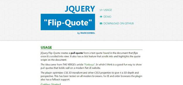 Flip Quote-jQuery Plugin