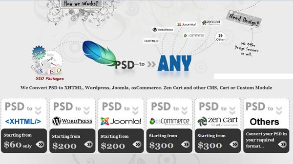 PSDtoANY To HTML Service Provider - Designdrizzle