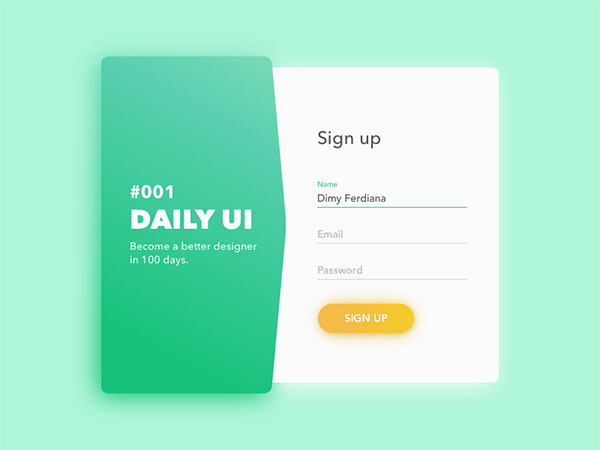 Sign Up Modal- sign up form