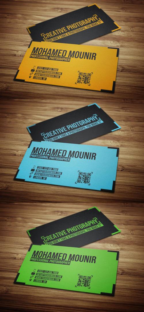 8. Creative Photography Business Card