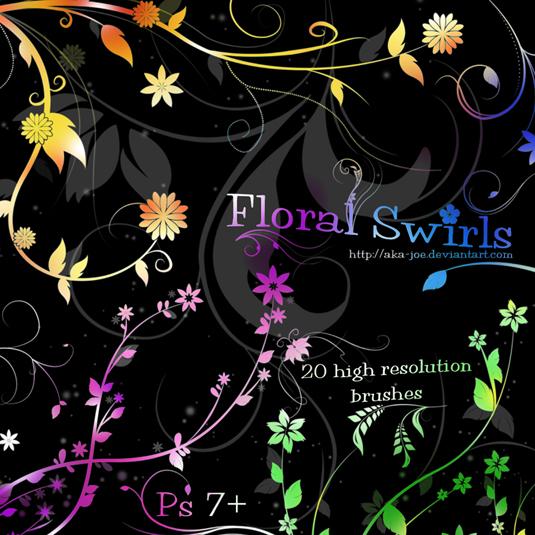 9Floral swirls