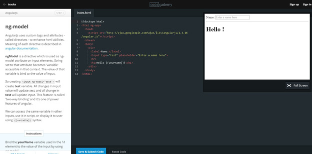 AngularJs-Codecademy