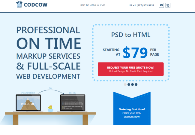 Codcow - PSD to HTML