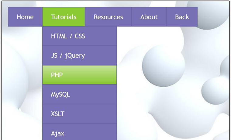 HTML5 CSS3 Dropdown menus
