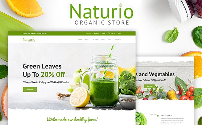 Naturio - Bright WooCommerce Theme