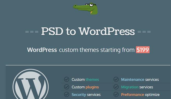 PsdGator- PSD to WordPress Company