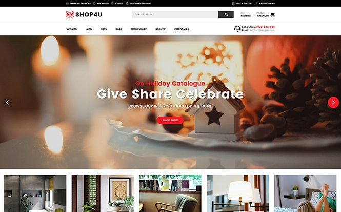 Shop4U - Modern WooCommerce Theme